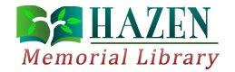 Link to Hazen Memorial Library Home Page
